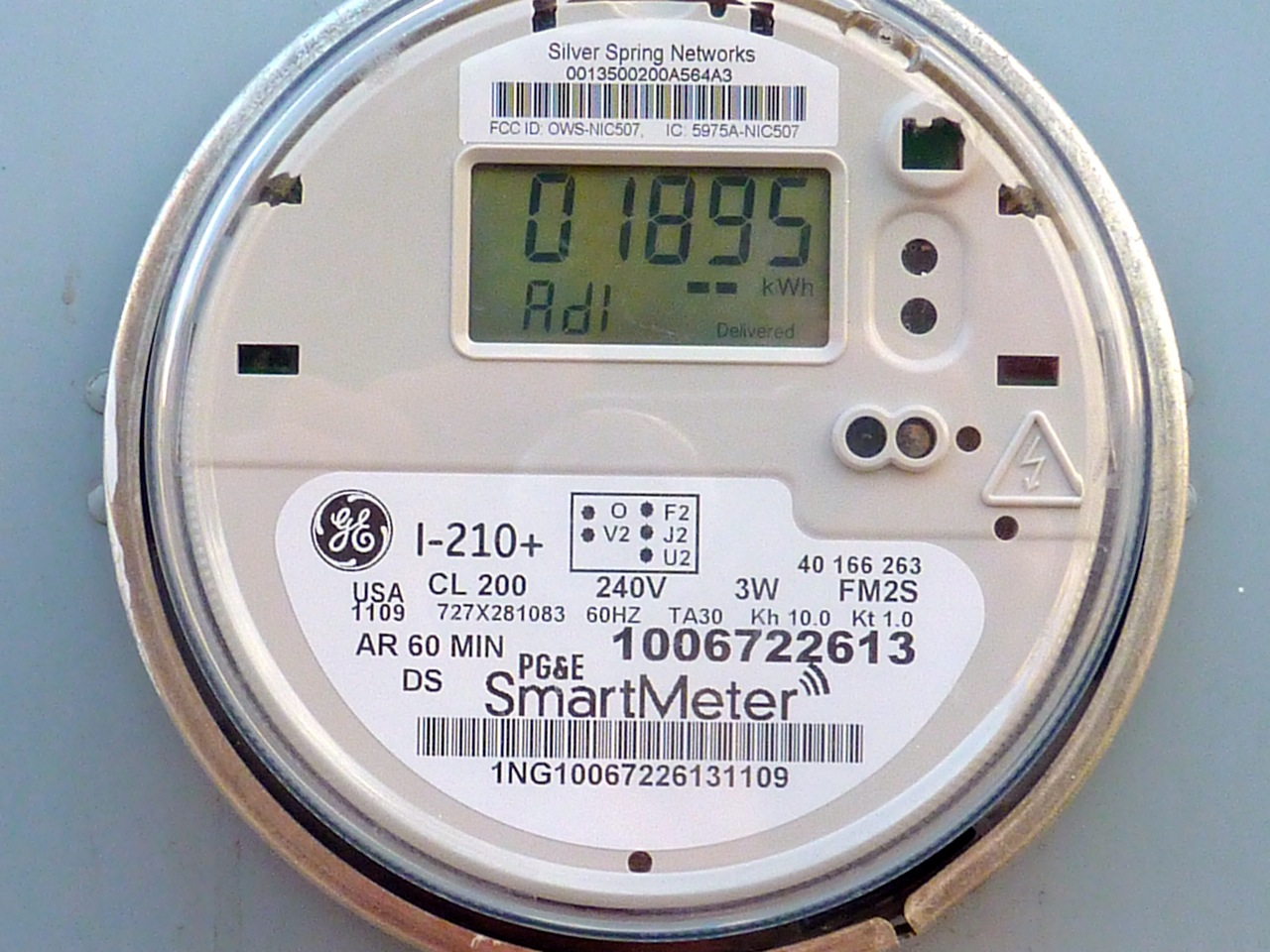 Smart Electric Meter Reading : Pg e smart meters violate fcc rf safety conditions emf