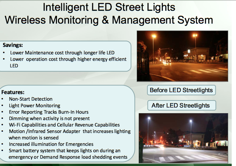 Intelligent streetlights